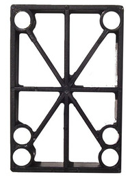 "H-Block Riser Pads (100Pcs)- 1/2"" Black Plastic"