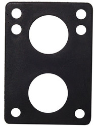 "H-Block Riser Pads (100Pcs)- 1/4"" Black"