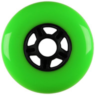 100mm 88a Scooter Wheel Neon Green/Black 5 Spoke Hub