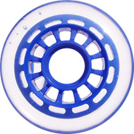 Inline Wheel - Blue/Clear 76mm 78A 12-Spoke