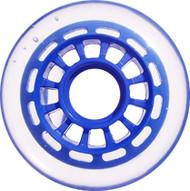 Inline Wheel - Blue/Clear 76mm 78A 12-Spoke