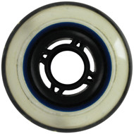 Inline Wheel - Black/Clear 76mm 80A 4-Spoke
