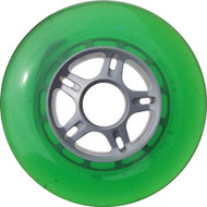 100mm 88a Scooter Wheel Silver/Green 5 Spoke Hub
