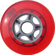 100mm 88a Scooter Wheel Red/Silver 5 Spoke Hub