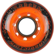 Labeda Hockey Wheel Addiction Grip+ Clear/Orange 72mm