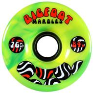 Bigfoot Wheel - 76mm 84a Marbles Swirl Yellow/Green