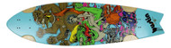 "Bustin Boards Cruiser Deck Kulture Kat 8.8"" x 32.5"" Skateboard"
