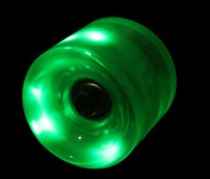 LED Wheel 65mm Green (Set of 4)