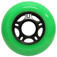 Inline Wheel - Green / Black 80mm 89a
