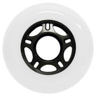 Inline Wheel - White / Black 76mm 89a