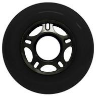Inline Wheel - Black / Black 80mm 89a