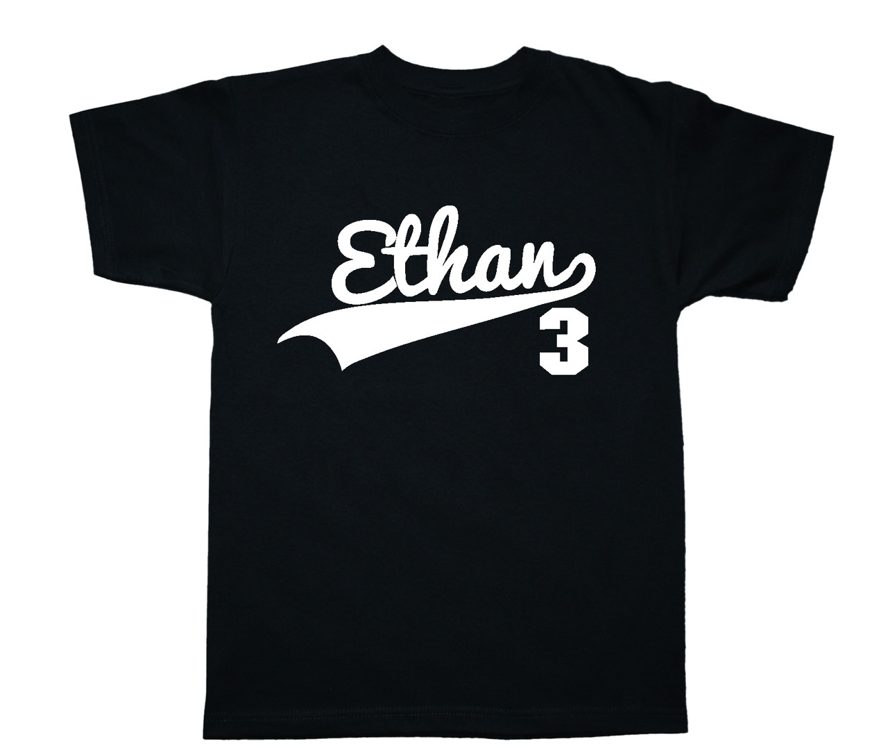 Personalized sports jersey swoosh tshirt