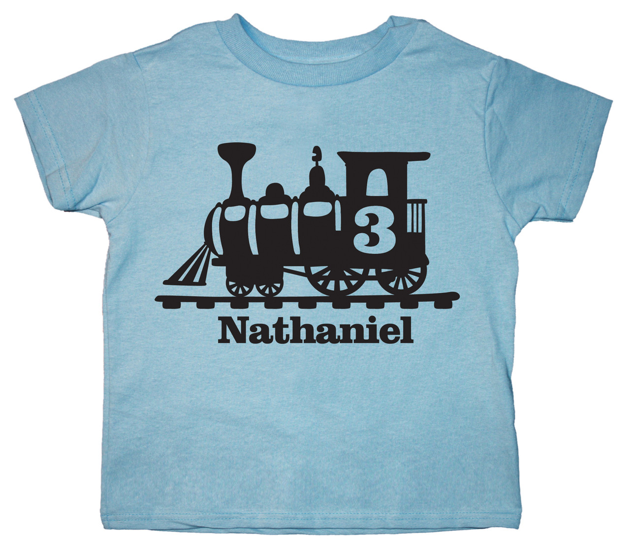 train birthday shirt personalized