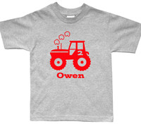 Tractor birthday personalized tshirt