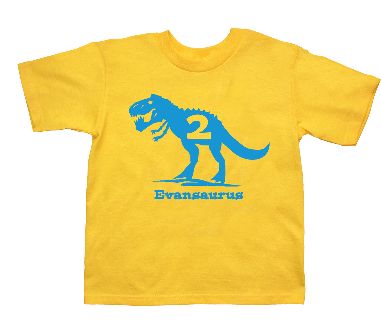 Trex dino birthday personalized tshirt