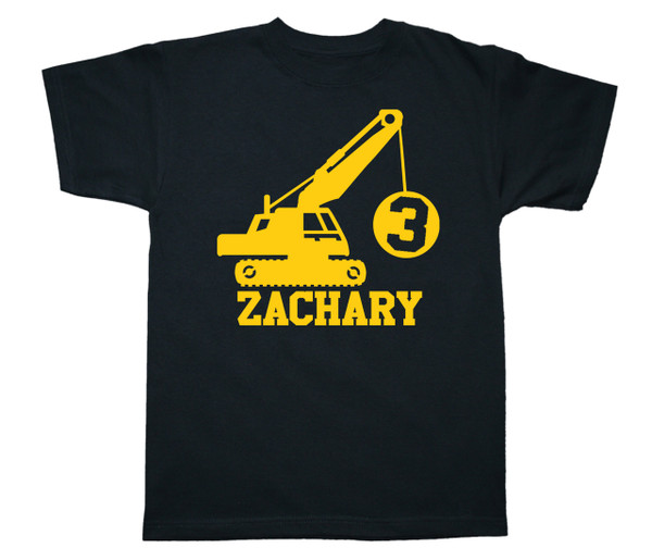 Wrecking ball birthday construction tshirt