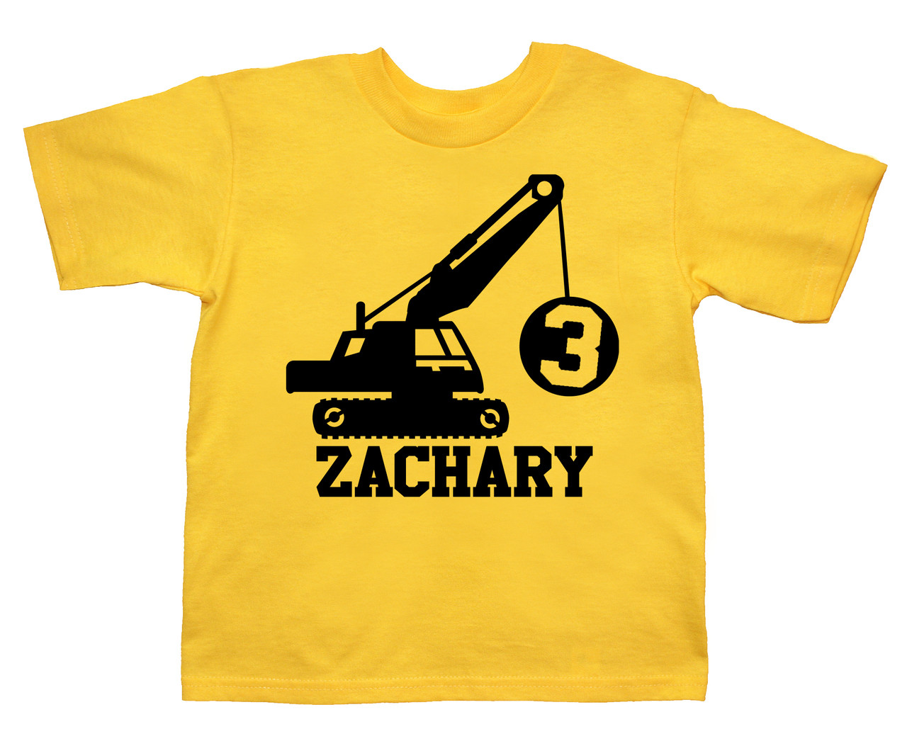 Construction wrecking ball birthday truck shirt