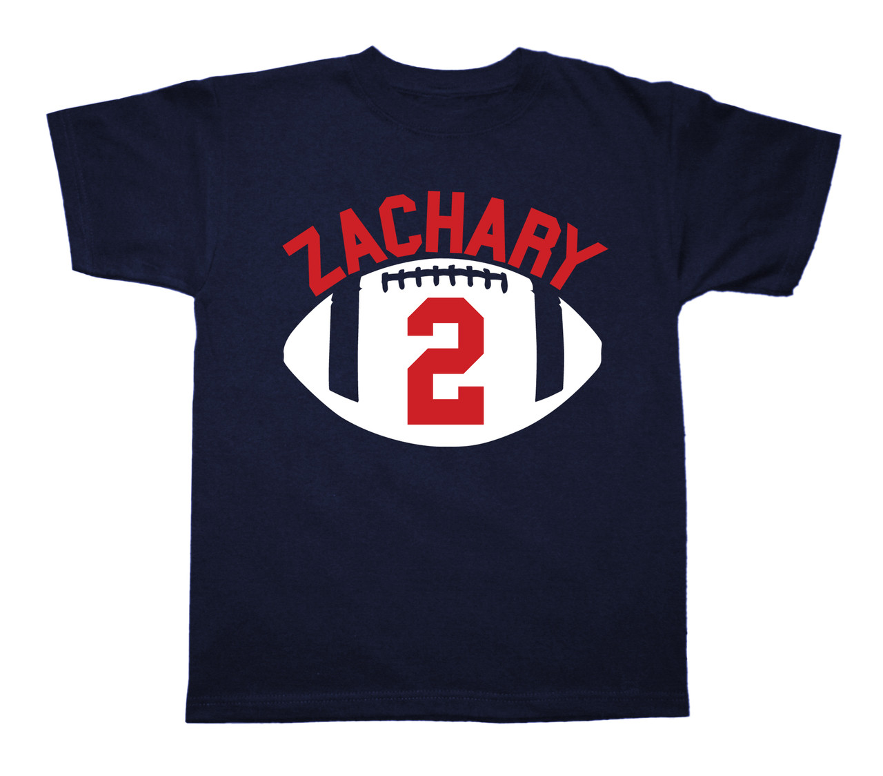 Football personalized birthday shirt on Navy blue