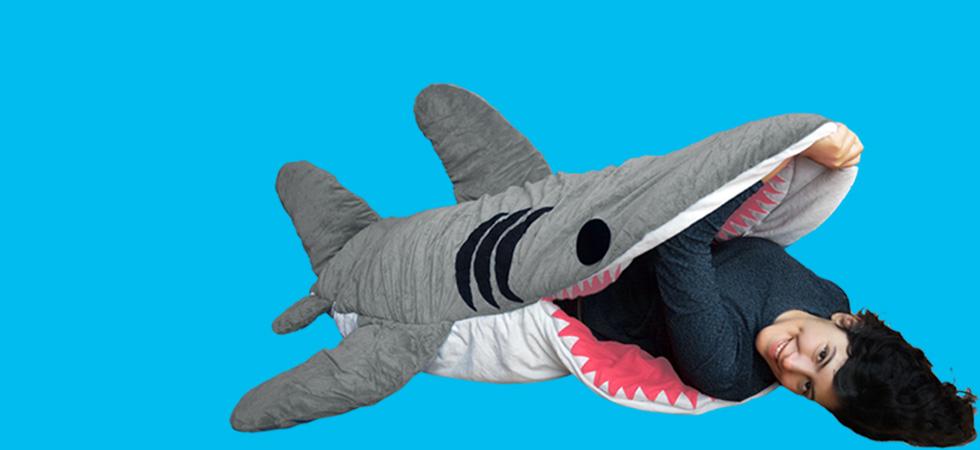 Giant Shark Sleeping Bag giant shark stuffed animal that eats you. perfect stuffed llama