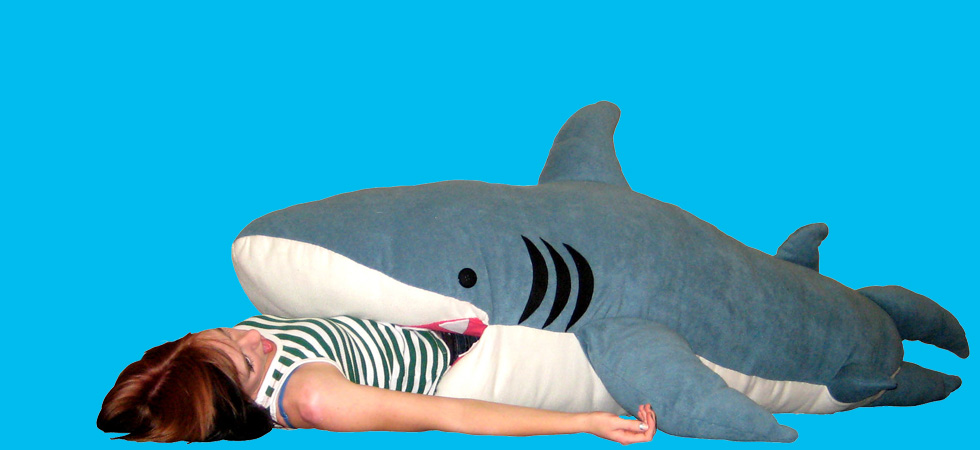 Shark Pillow That Eats You chumbuddy shark plush toy and sleeping bag for adult and kids