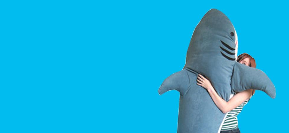 Shark Sleeping Bag. Cheap Chic Quality Flannel Double Layer Shark ...