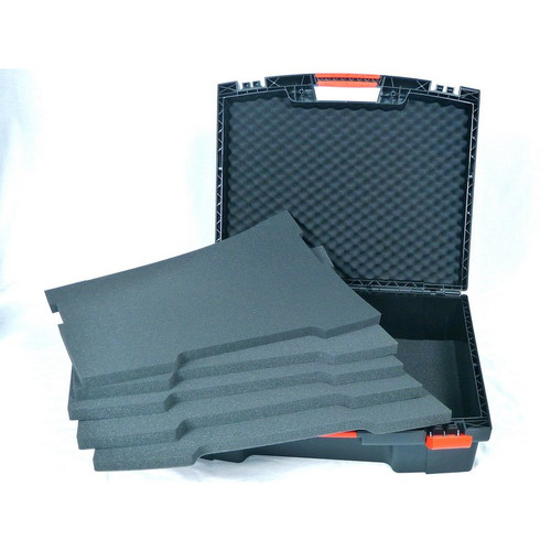 Plastic Laser Scanning Accessory Case with foam inserts