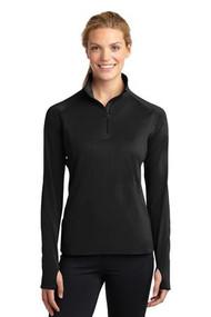 Sport-Tek Ladies Sport-Wick Stretch 1/2-Zip Pullover.