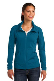 PNQL-LST852 Ladies Stretch Wick Full Zip Jacket with Logo