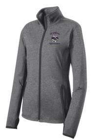 WPTO-LST853 Ladies Sport-Wick® Stretch Contrast Full-Zip Jacket