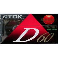 TDK D60 Iec I / Type I High Output Audio Cassette 60 Minutes Pack Of 2 - EE673377