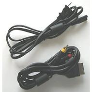 OEM Original Xbox 1st Gen Hookup Connection Kit Regular Power Cord AV - ZZ673422