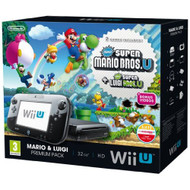 Nintendo Wii U Black Premium Pack 32GB New Super Mario Bros New Super - ZZ673441