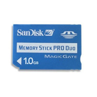 SanDisk 1 GB Memory Stick Pro Duo SDMSPD-1024-A11 Age For PSP UMD Card - EE676235