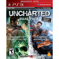 Uncharted Greatest Hits Dual Pack PlayStation 3 With Manual And Case - ZZ678022