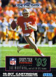 Sports Talk Football '93 Starring Joe Montana And All 28 NFL Teams For - EE678959