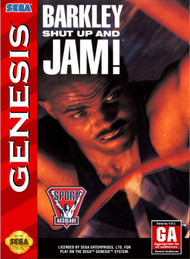 Barkley Shut Up And Jam! For Sega Genesis Vintage Basketball - EE678972