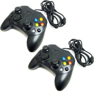 Lot Of Two Black Xbox Controllers Generic - ZZ680875