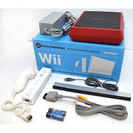 Nintendo Wii 8GB Mini Red/black Video Game Console Home System RVL-201 - ZZ680876