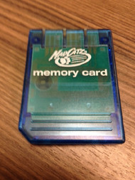PlayStation Mad Catz Memory Card Blue PS1 Expansion For PlayStation 1 - EE680982