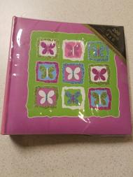 Christopher Vine Design Purple Photo Album W/butterflies Holds 200 4X6 - EE683304