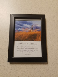 Believe And Achieve Phrase Picture Frame  Black XEN251 - EE683311