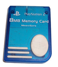 8MB Memory Card Blue For PlayStation 2 PS2 Expansion - EE683835