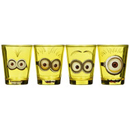 Silver Buffalo DM031SG2 Despicable Me Minion Mini Glass Set 4-pack - EE684735