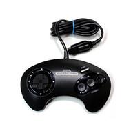 Sega OEM Controller Model #1650 Vintage Black Gamepad For Sega Genesis - EE685599