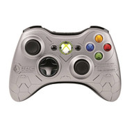 Halo Reach Wireless Controller For Xbox 360 Silver Gamepad - EE688132