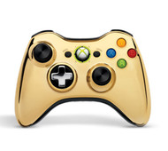 Wireless Controller Gold Chrome For Xbox 360 Gamepad - EE688134