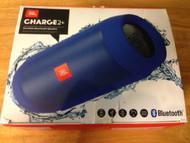 JBL Charge 2+ Splashproof Portable Bluetooth Speaker Blue Wireless - EE688295