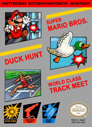 3-IN-1 Super Mario Bros / Duck Hunt / World Class Track Meet For - EE688644