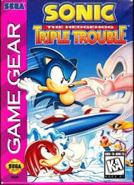 Sonic The Hedgehog: Triple Trouble For Sega Game Gear Vintage - EE688917