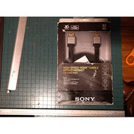 Sony 12' HDMI Flat Cable With Ethernet For PlayStation 3 PS3 Black DLC - EE689315